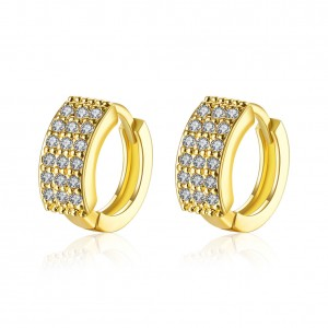 Audrey 18k Gold Plated with Stone Earrings