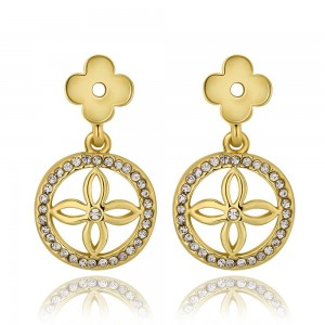 Brianna 18K Gold Plated Dangling Earrings