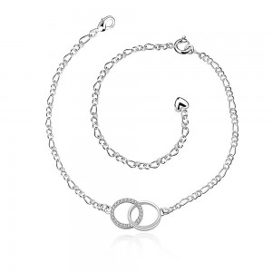 Halo 925 Silver Plated Anklet