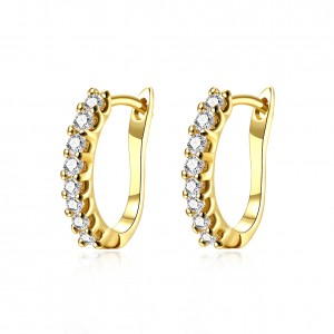 Harriet 18k Gold Plated with Stone Earrings