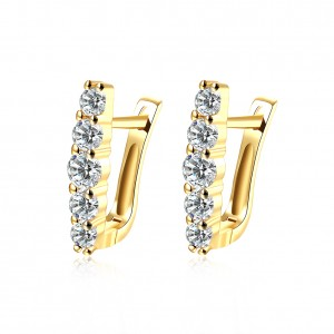 Lyonna 18k Gold Plated with Stone Earrings