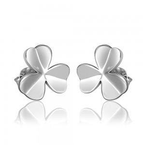 Mikaela White Gold Plated Flower Earrings