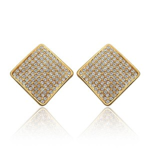 Naomi Stone Studded 18K Gold Plated Earrings