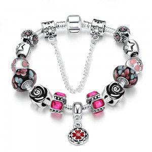 Pand Magenta Bracelet Silver Plated