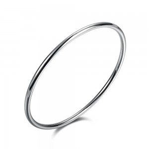 Slim 925 Silver Plated Bangle