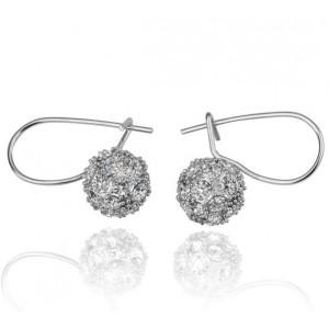 Snow Ball Stone Studded Earrings