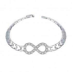 Suzette Infinity Silver Plated Bracelet