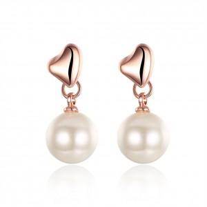 Vilma Heart with Pearl Earrings