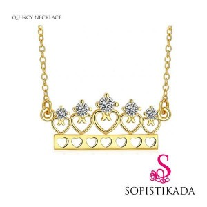 Quincy Gold Crown Necklace