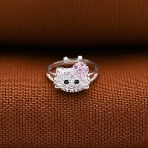 16fa3618d Technowise360 - Hello Kitty Ring for Kids A 925 Silver by Argento