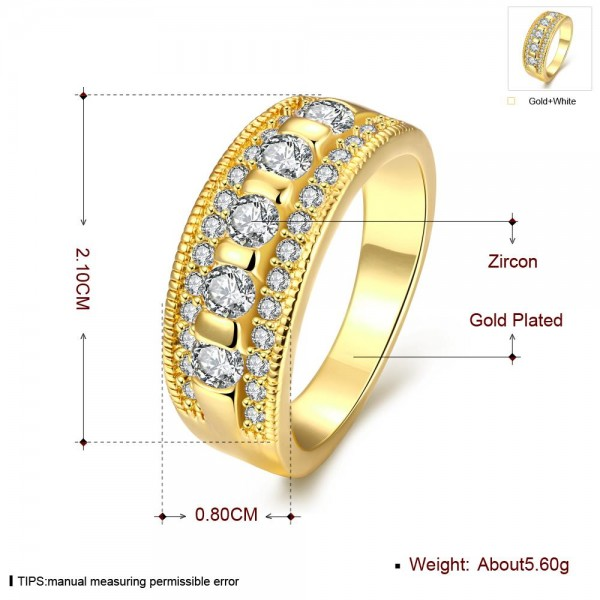 Technowise360 - Esther 18K Gold Plated Ring by Elite