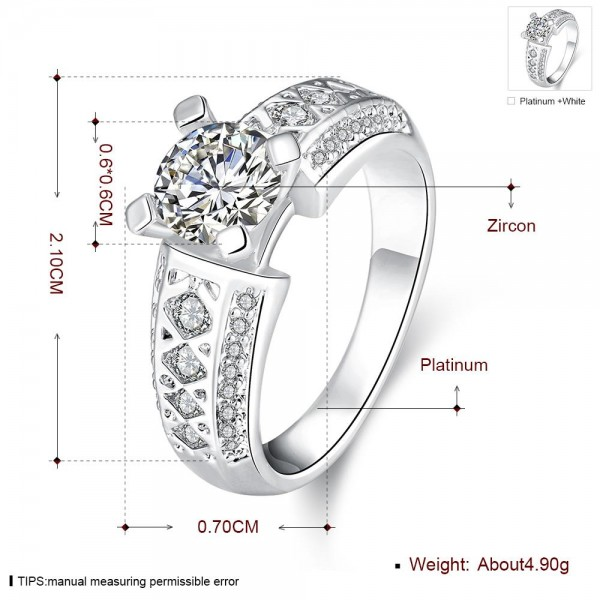 Technowise360 - Grizela White Gold Plated Ring by Elite