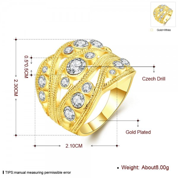 Technowise360 - Valkyrie 18K Gold Plated Ring by Elite